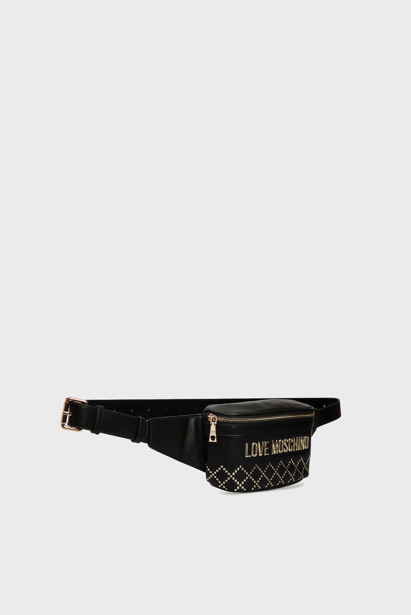 Женская белая поясная сумка Love Moschino
