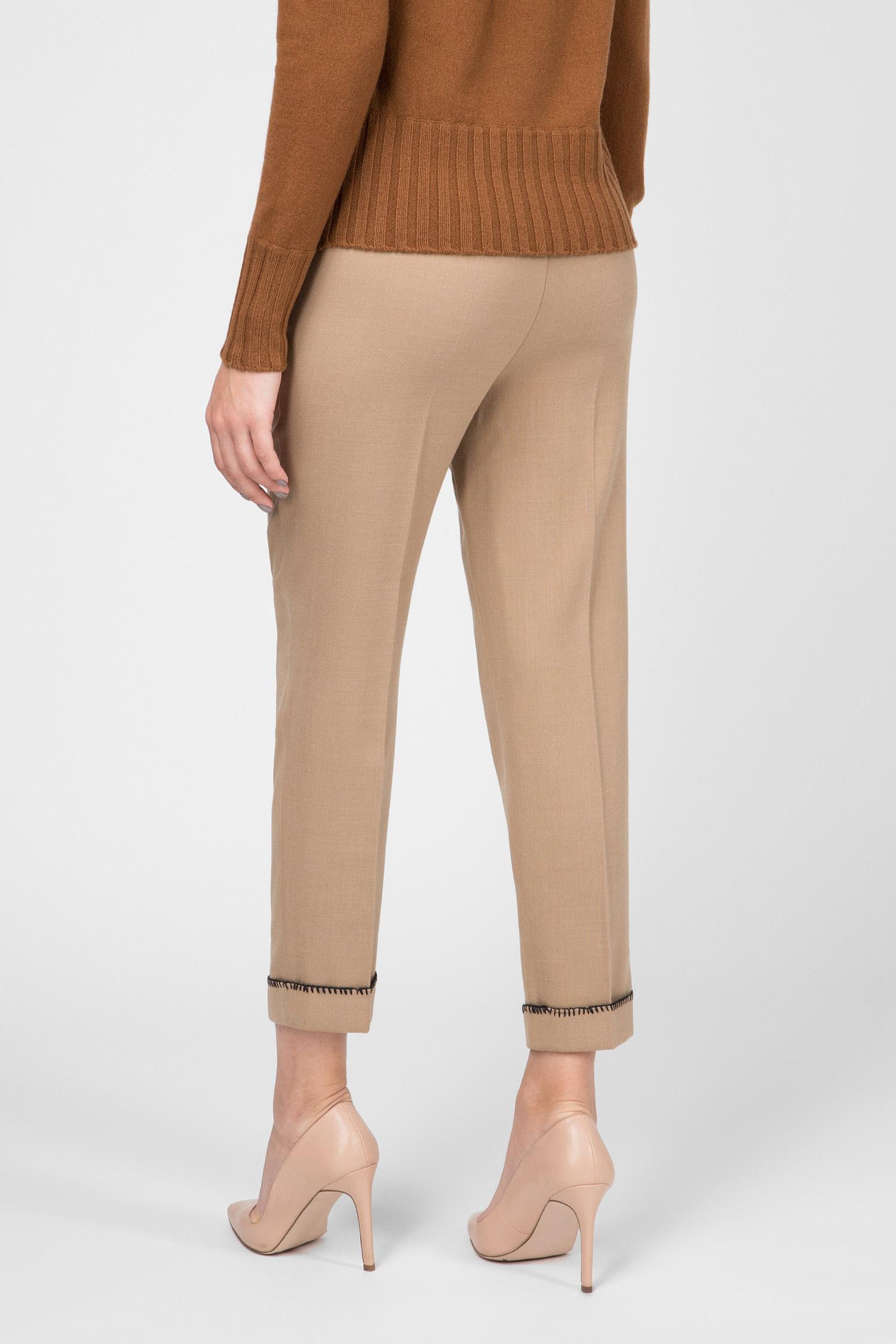 Женские бежевые укороченные брюки Ballantyne