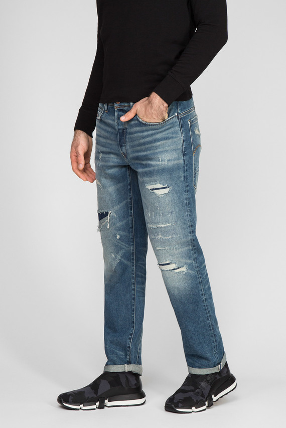 Мужские голубые джинсы Moddan Type c relaxed tapered