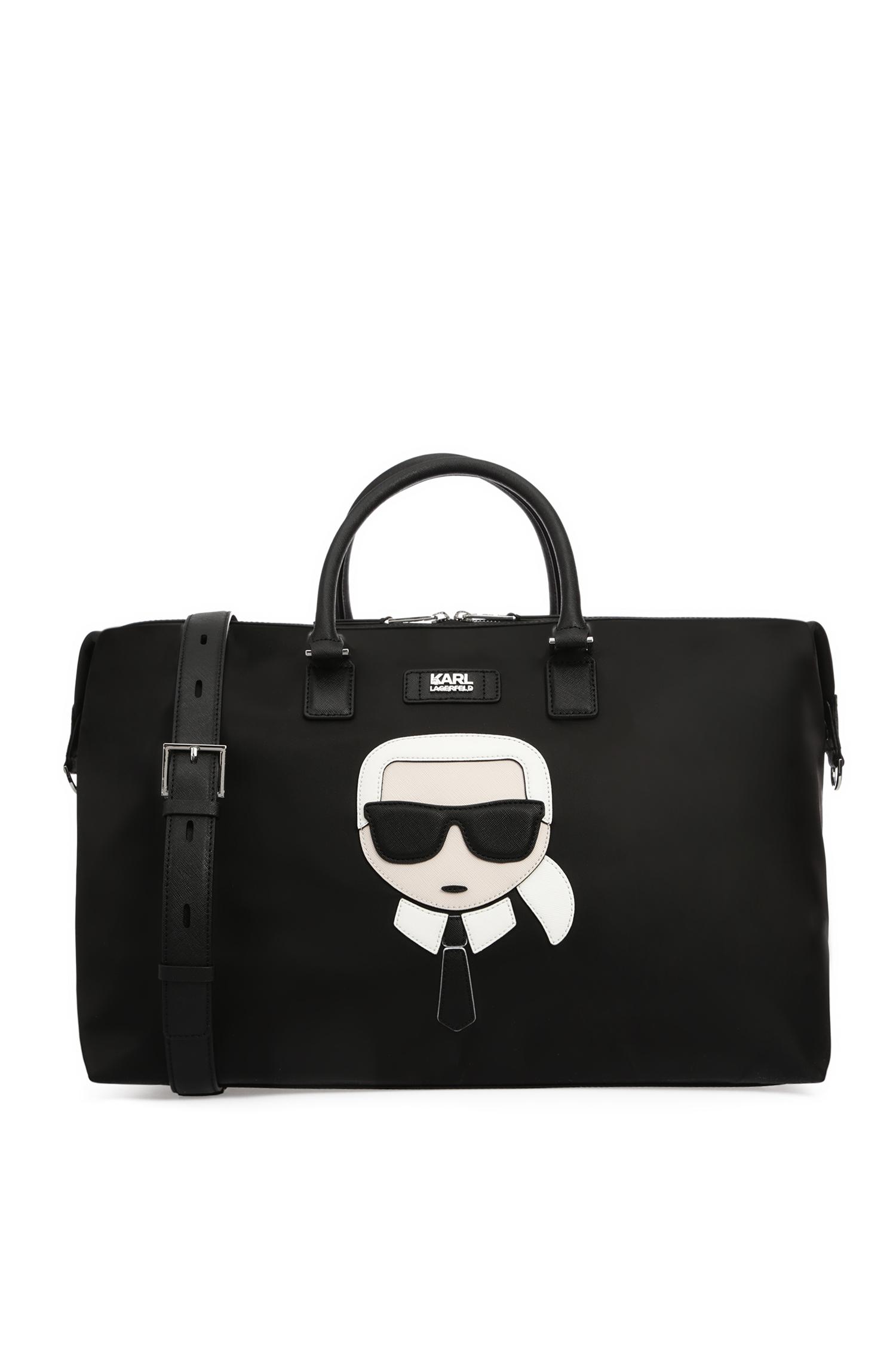 Мужская черная дорожная сумка Karl Lagerfeld