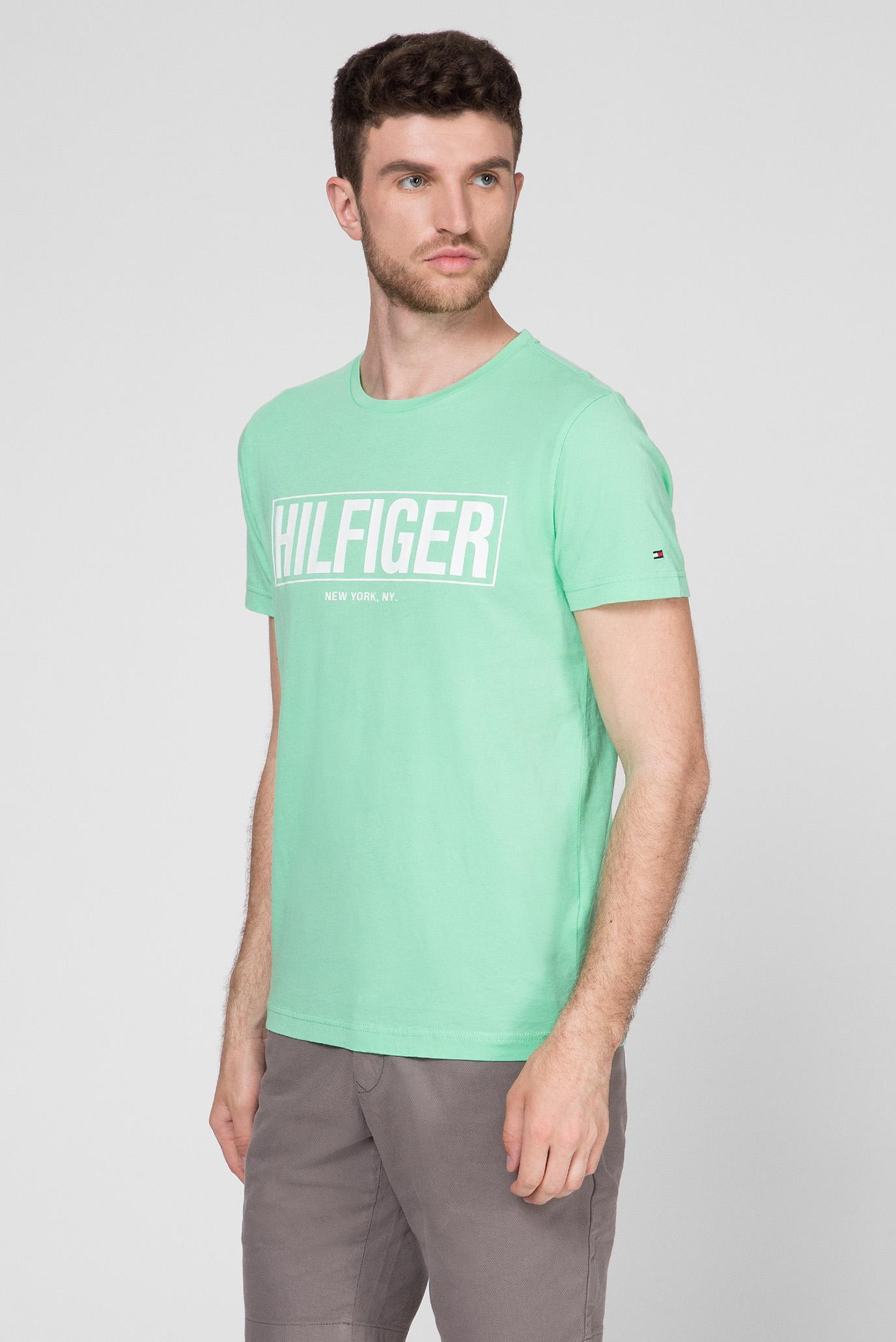 Мужская салатовая футболка BOX HILFIGER Tommy Hilfiger