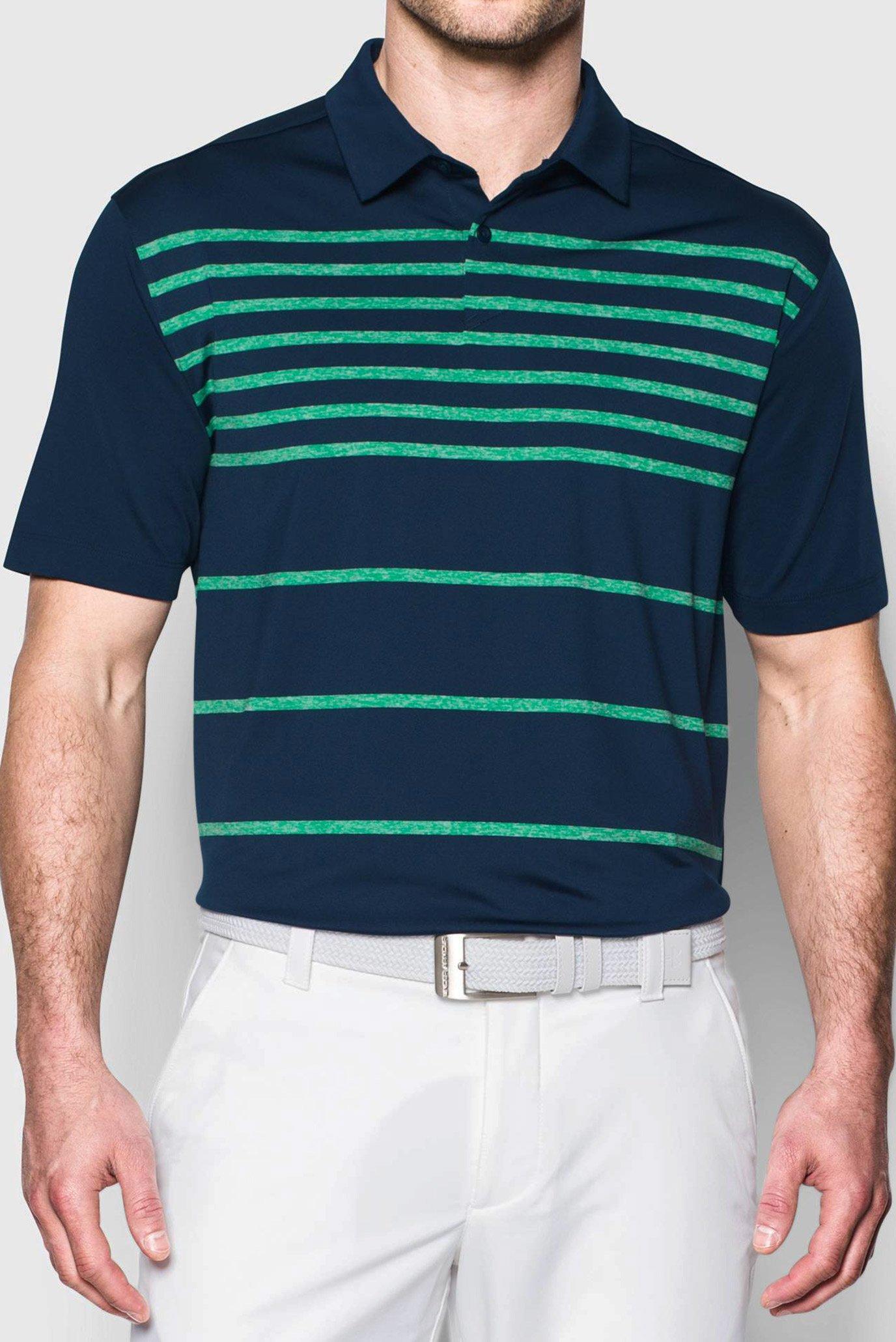 Чоловіче синє поло Coolswitch Brassie Stripe 1