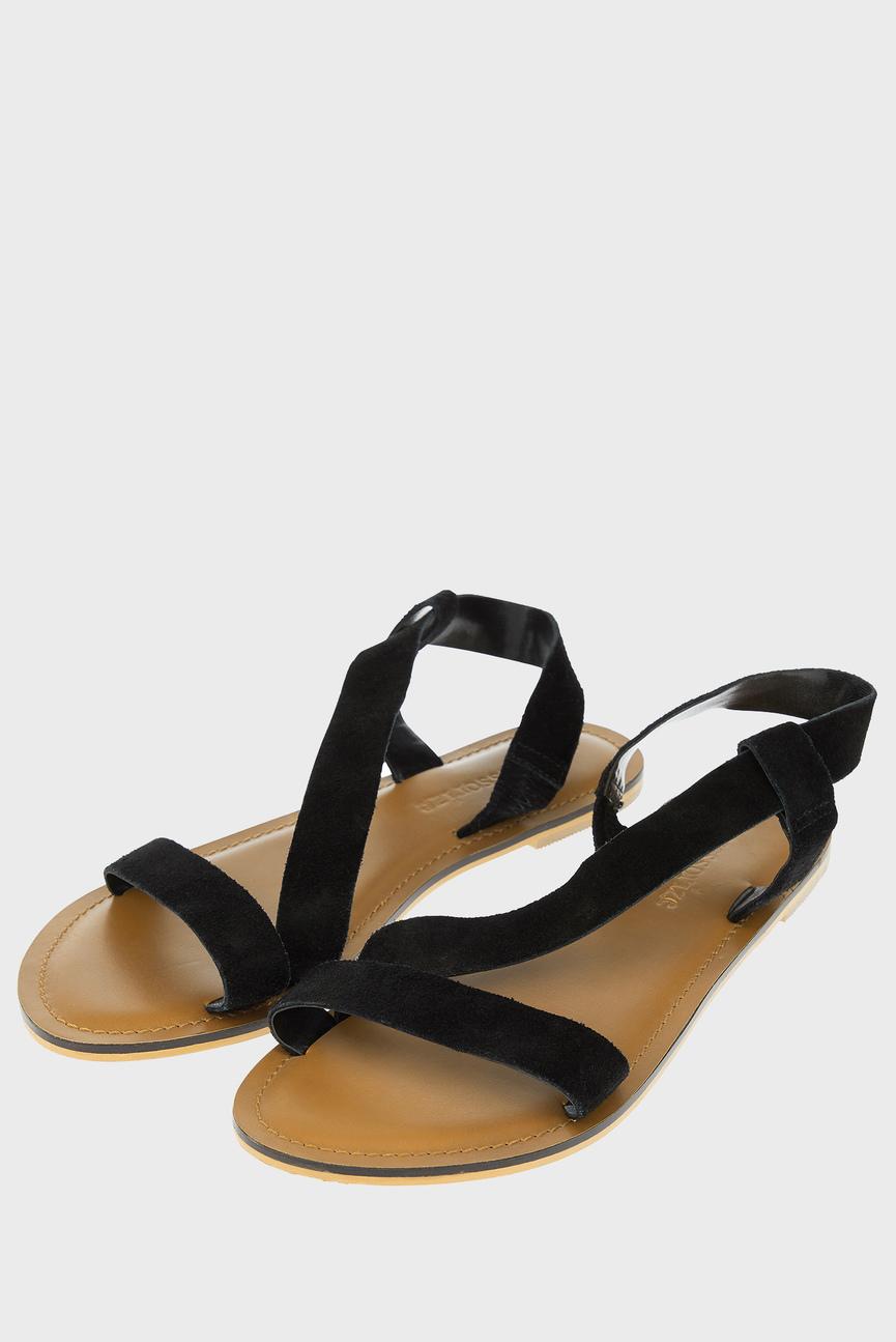 Женские черные замшевые сандалии ALICE