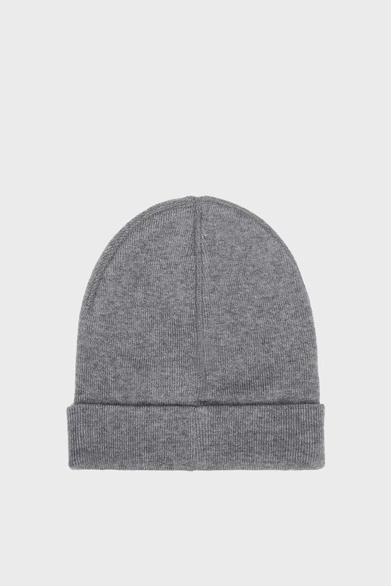 Женская серая шапка TH BEANIE