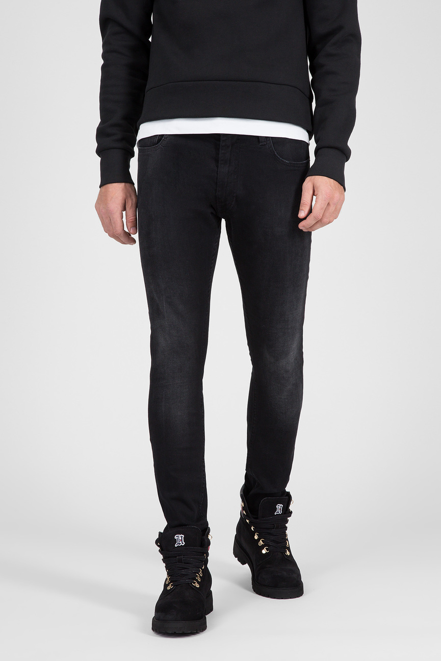 Мужские черные джинсы LEWIS HAMILTON BLACK STONE