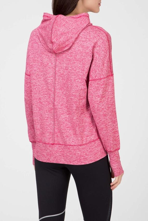 Женское розовое худи