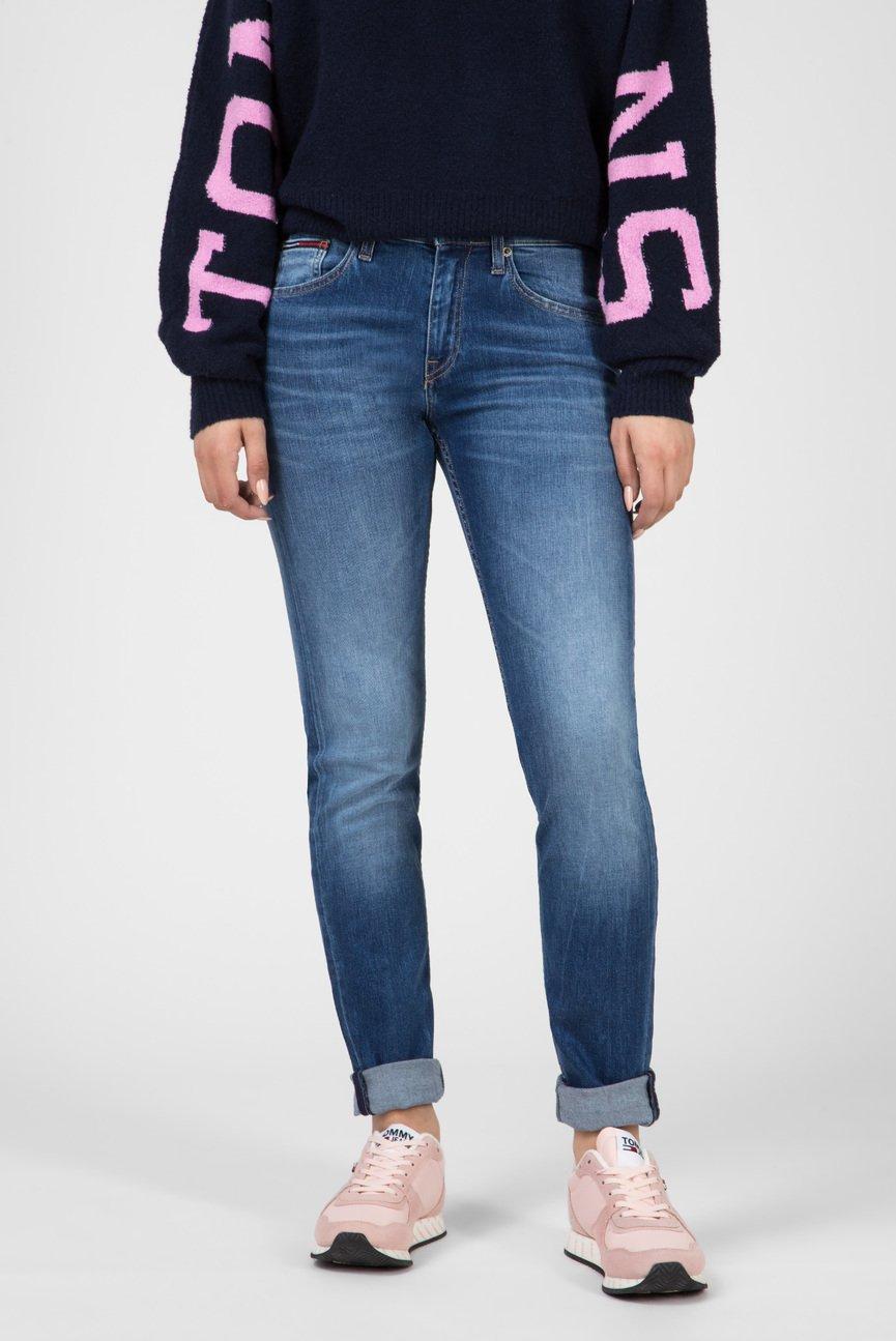 Женские синие джинсы MID RISE SLIM TJ1972