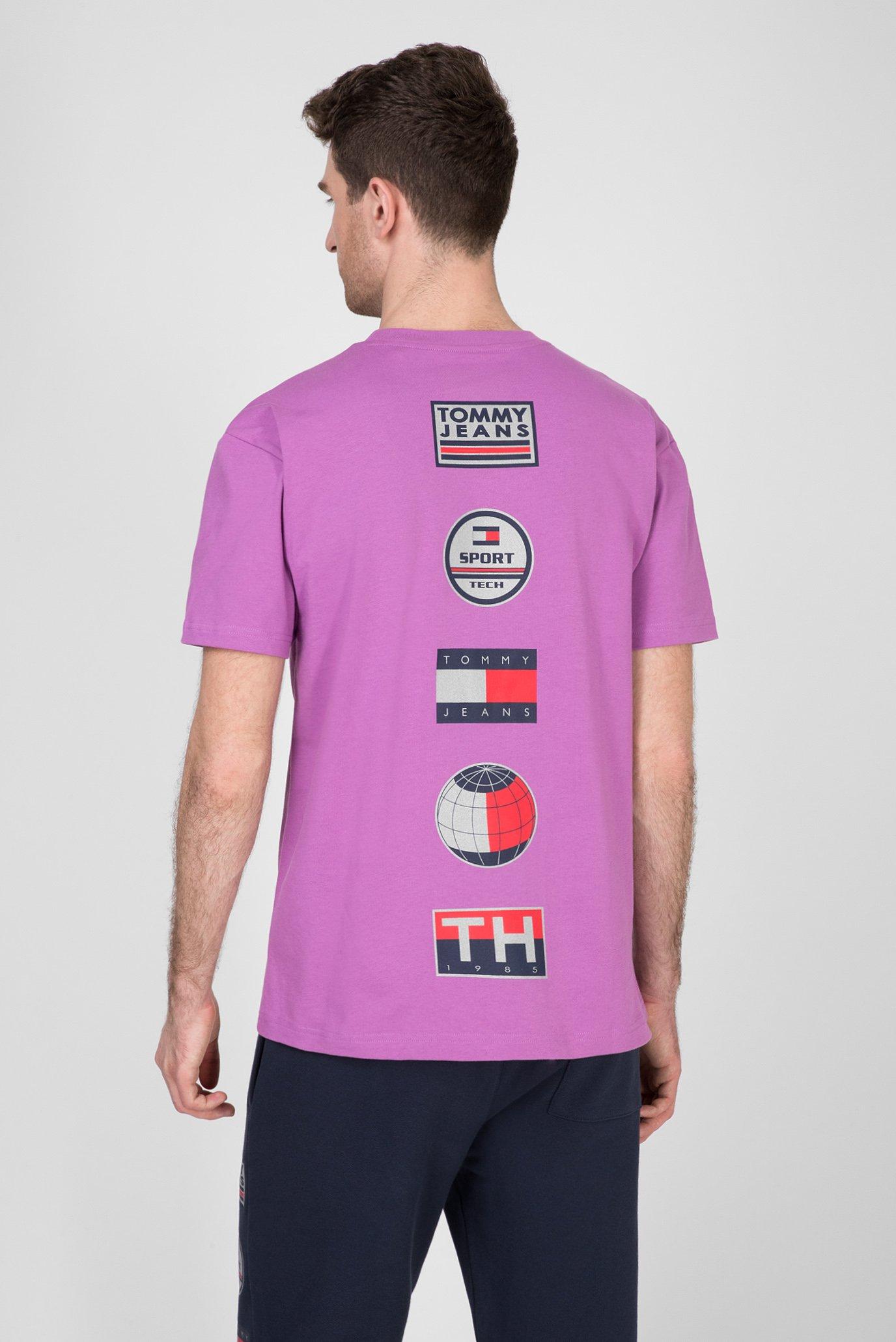 Мужская сиреневая футболка TJM SPORT TECH LOGO M7 Tommy Hilfiger