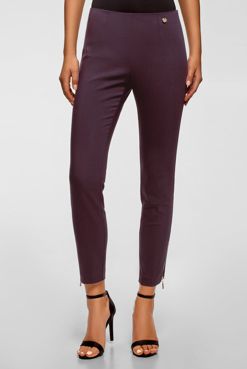 Женские фиолетовые брюки