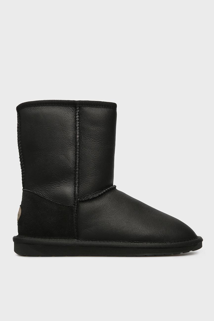 Женские черные кожаные угги Townsend