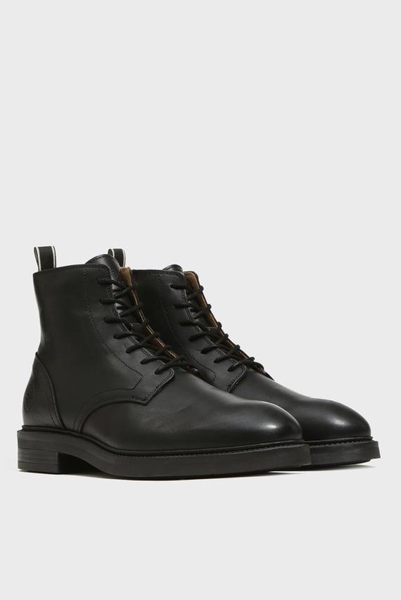 Мужские черные кожаные ботинки MARTIN