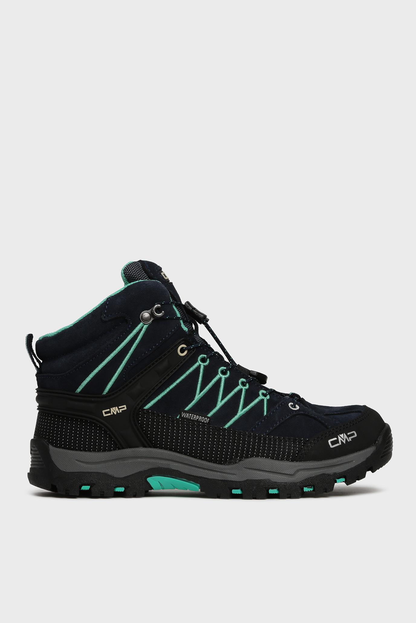 Детские темно-синие замшевые ботинки 1