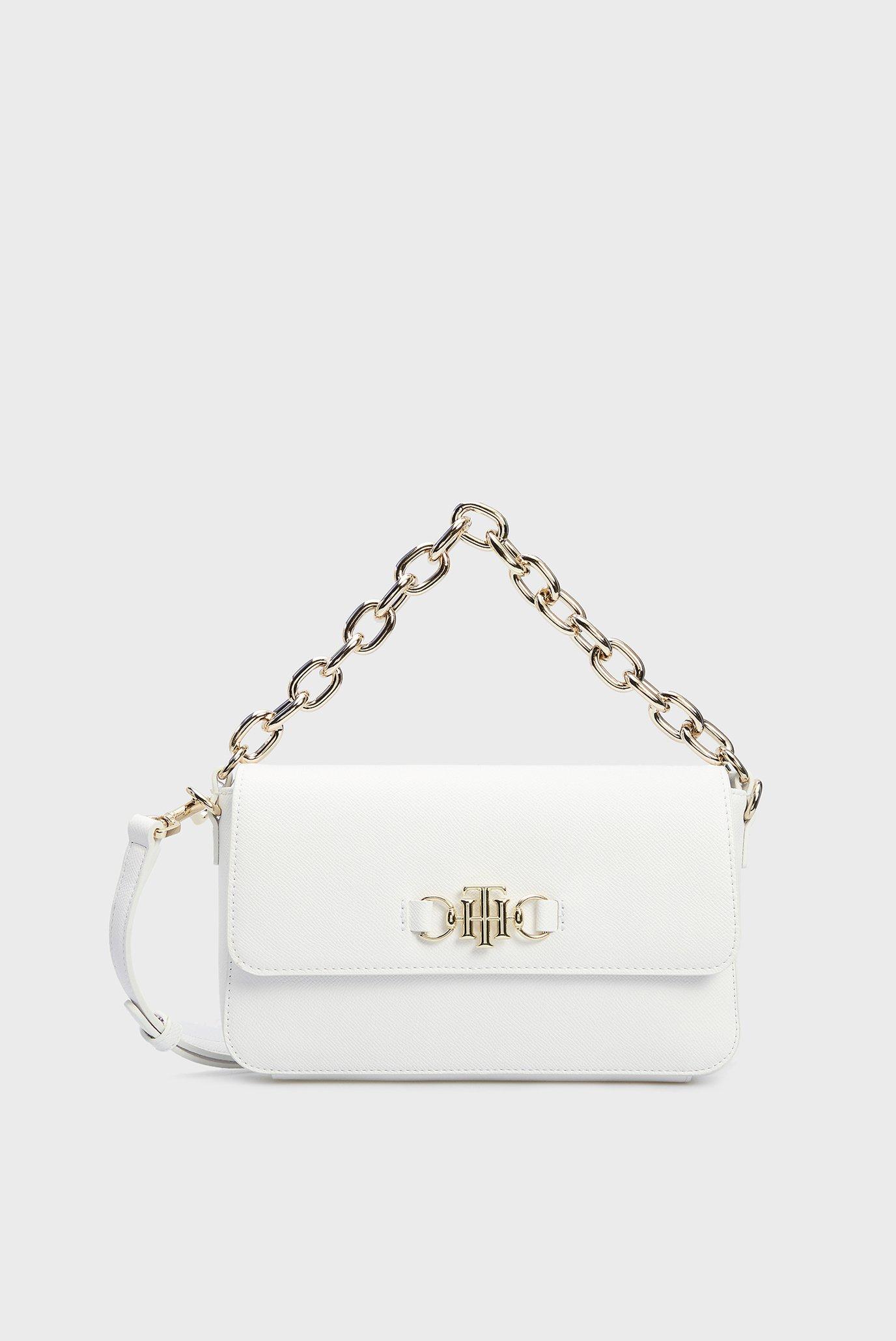Женская белая сумка TH CLUB FLAP CROSSOVER 1