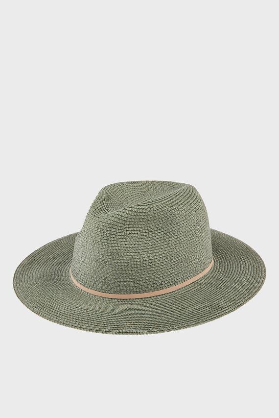 Женская зеленая шляпа PACKABLE PANAMA