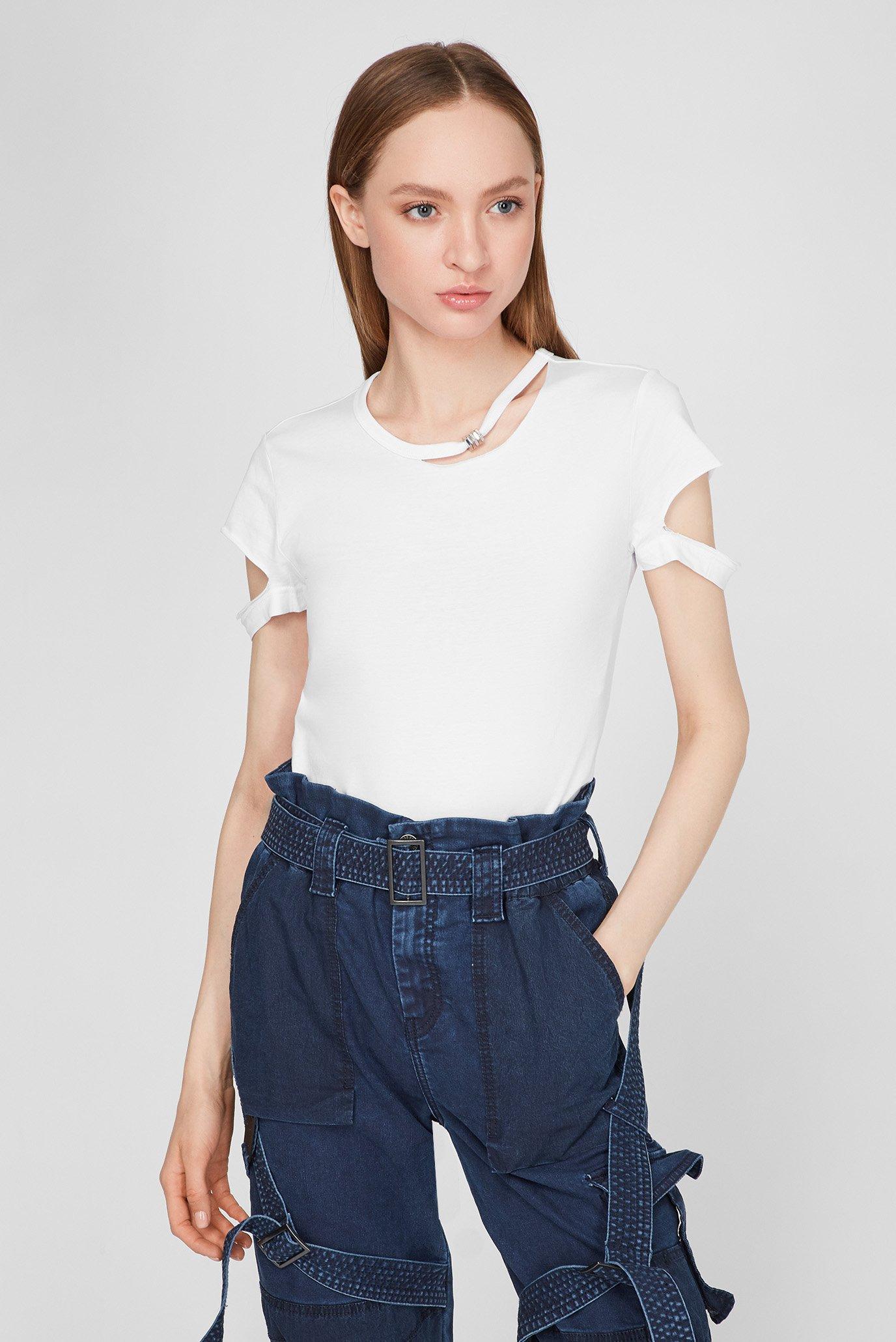 Женская белая футболка T-BULLOCK T 1