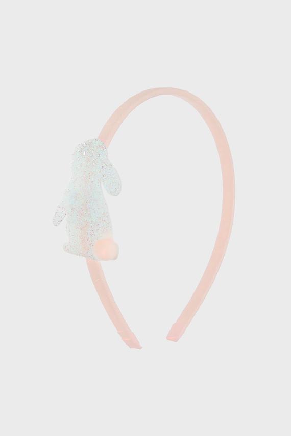 Детский розовый обруч BUNNY SKINNY ALICE