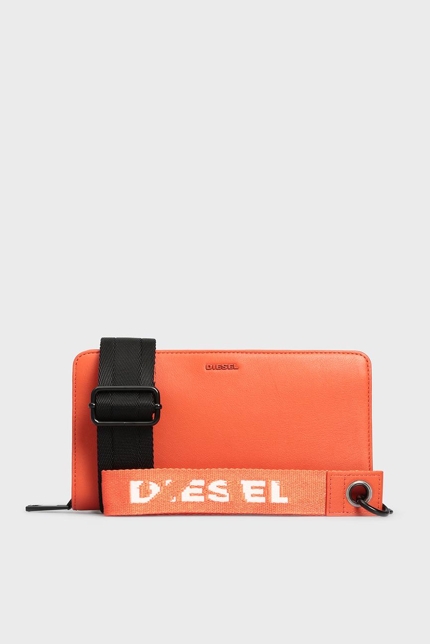 Женский оранжевый кожаный кошелек PHOPPY