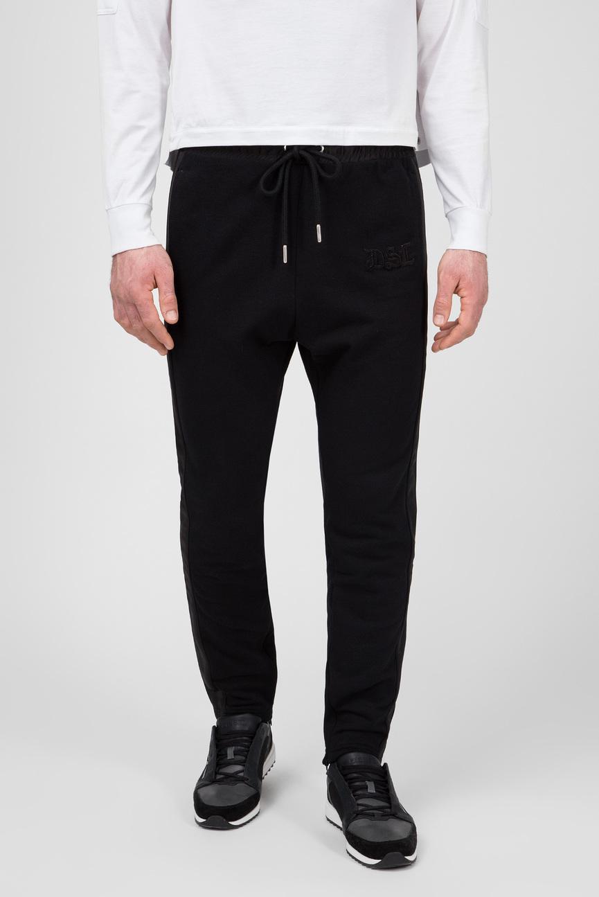 Мужские черные спортивные брюки P-FUMIO-RR