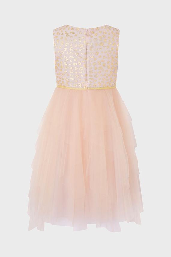 Детское розовое платье KATRIONA LEOPARD PRINT
