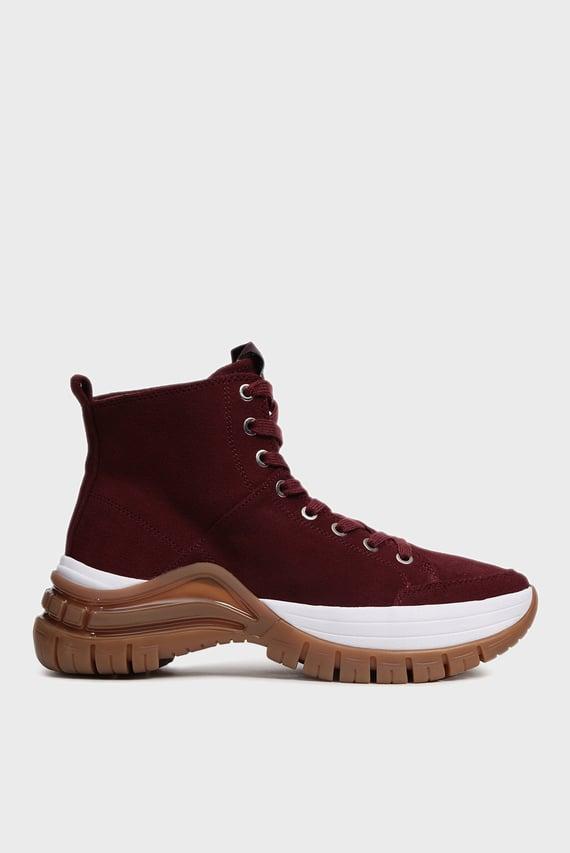 Женские бордовые замшевые ботинки TIMOTHA