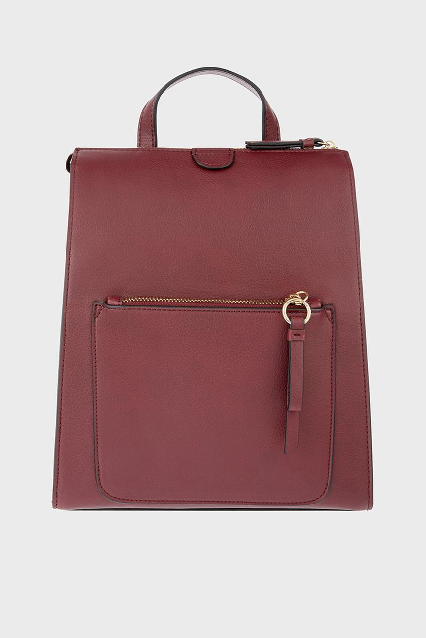 Женский бордовый рюкзак MILA BACKPACK