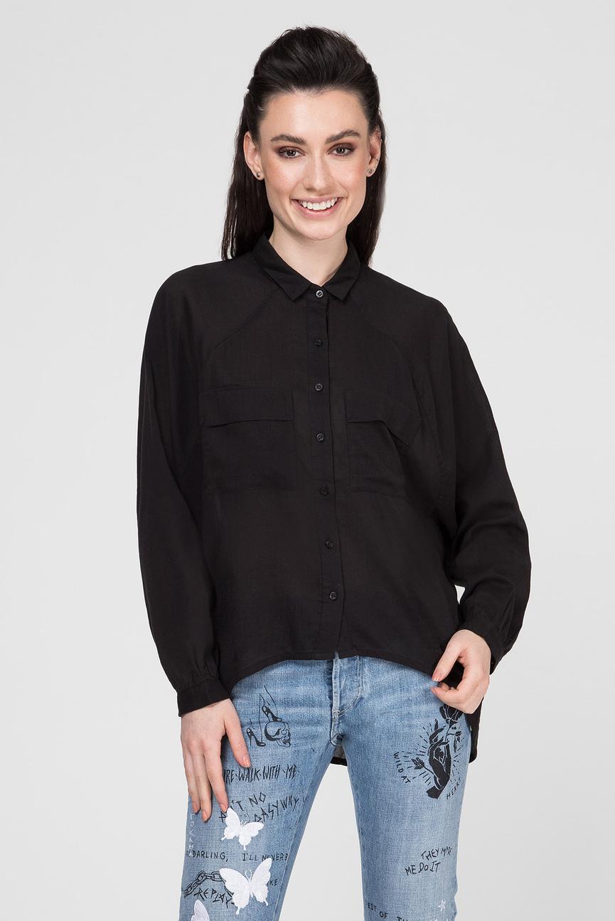 Женская черный рубашка