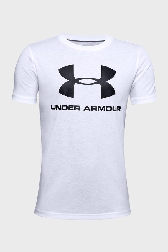 Мужская белая спортивная футболка Sportstyle Logo SS