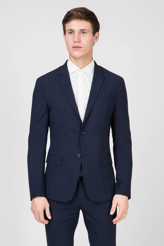 Мужской темно-синий пиджак BI-STRETCH HOUNDSTOOTH