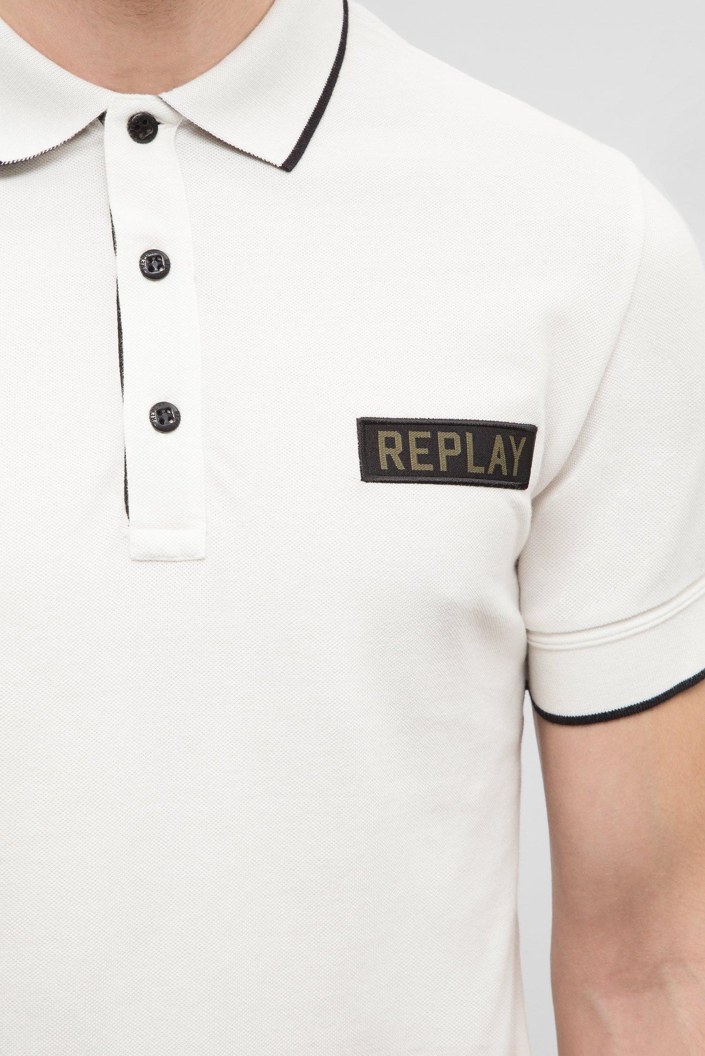 Мужское белое поло Replay