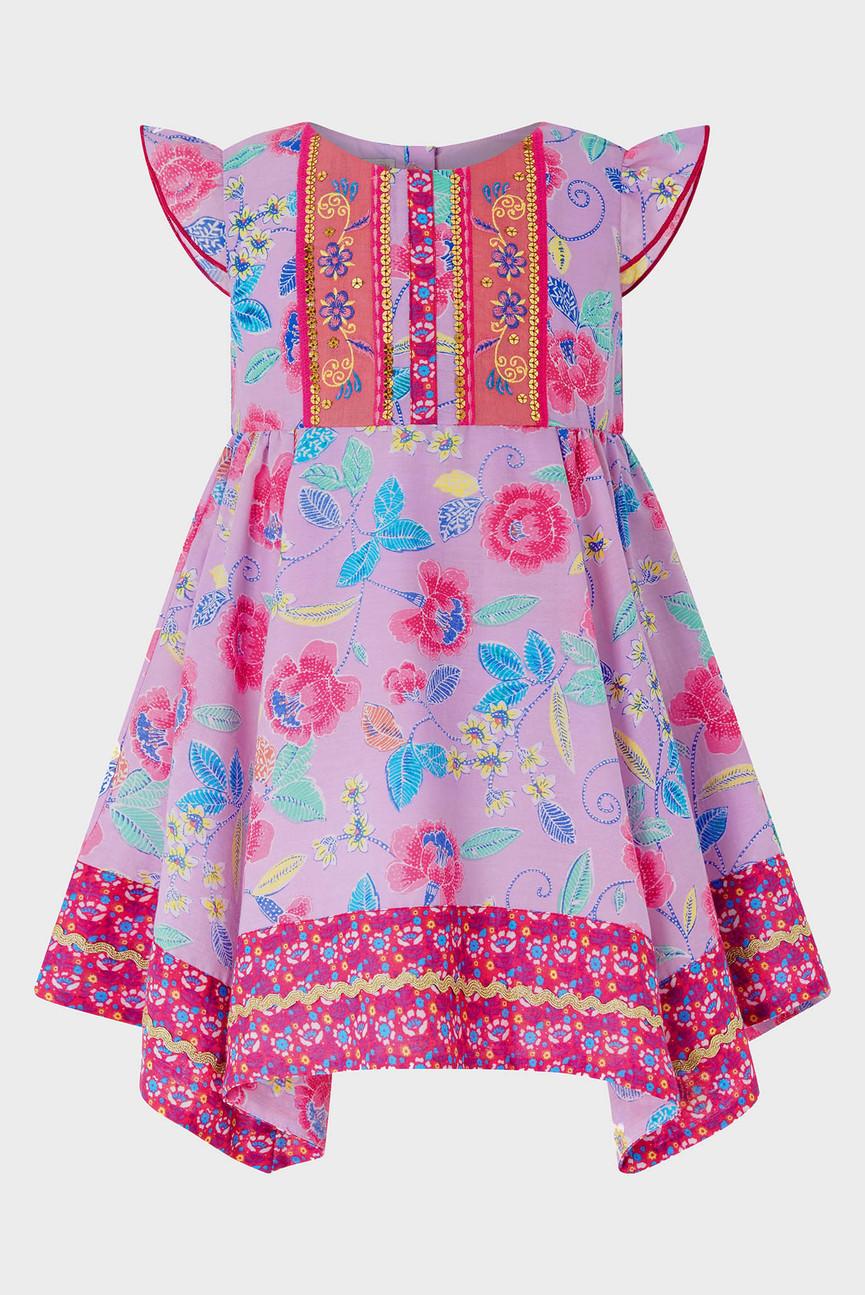 Детское розовое платье BABY MARISSA