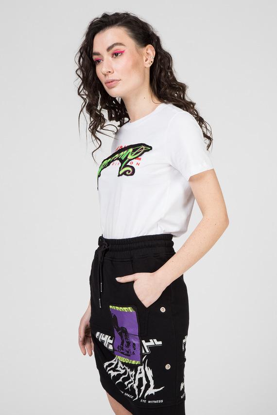 Женская белая футболка T-SILY-ZD