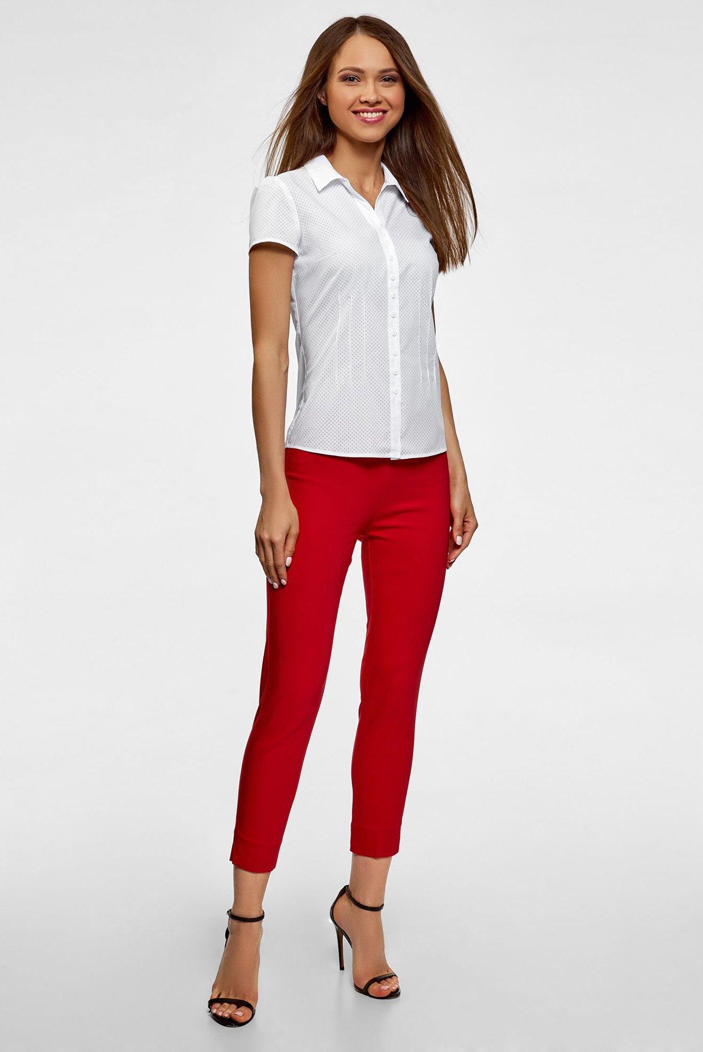 Женская белая блуза Oodji