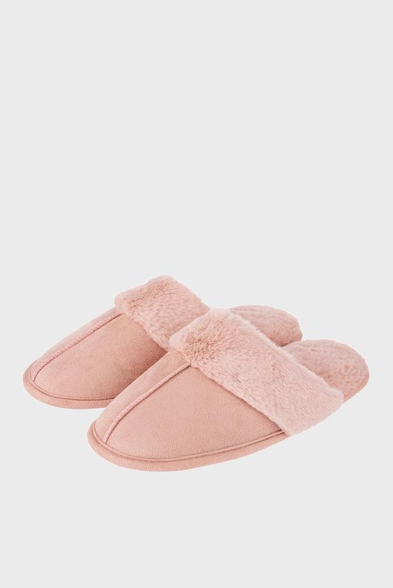 Женские розовые домашние тапочки SUEDETTE MULE SLIPPERS