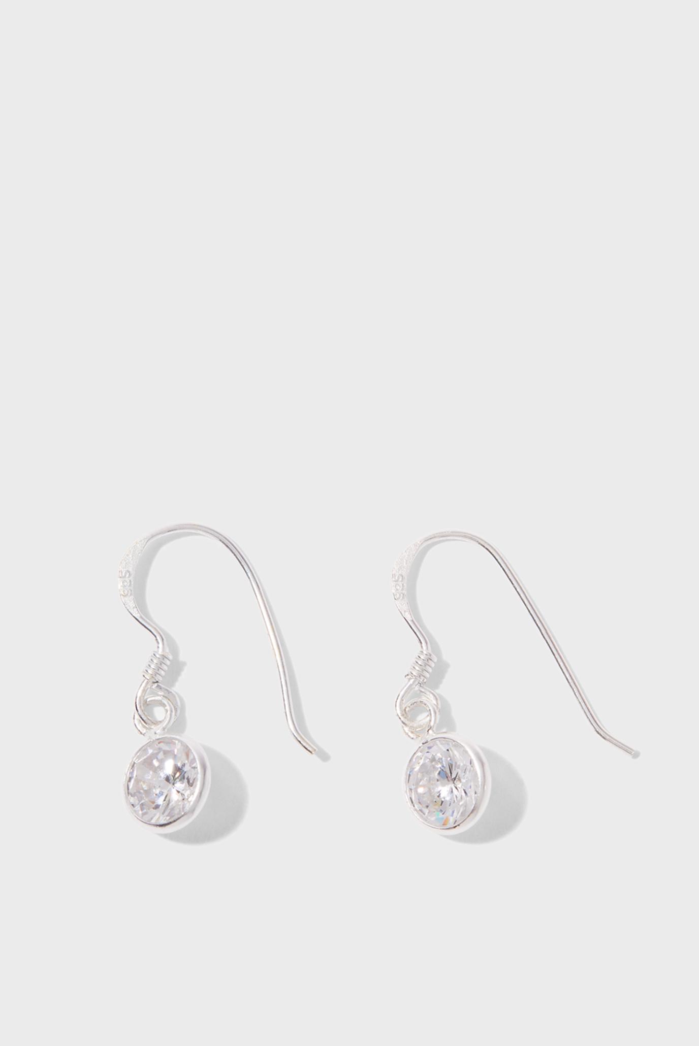 Жіночі срібні сережки ST SPARKLE SHORT DRO 1
