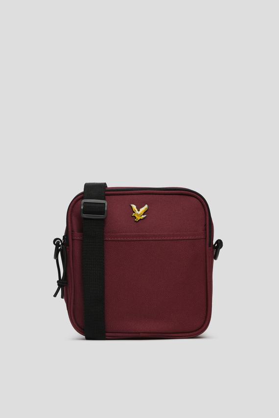 Мужская бордовая сумка через плечо