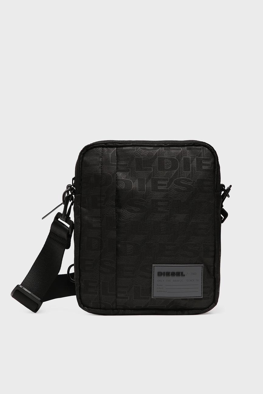 Мужская черная сумка через плечо DISCOVER-ME / ODERZO