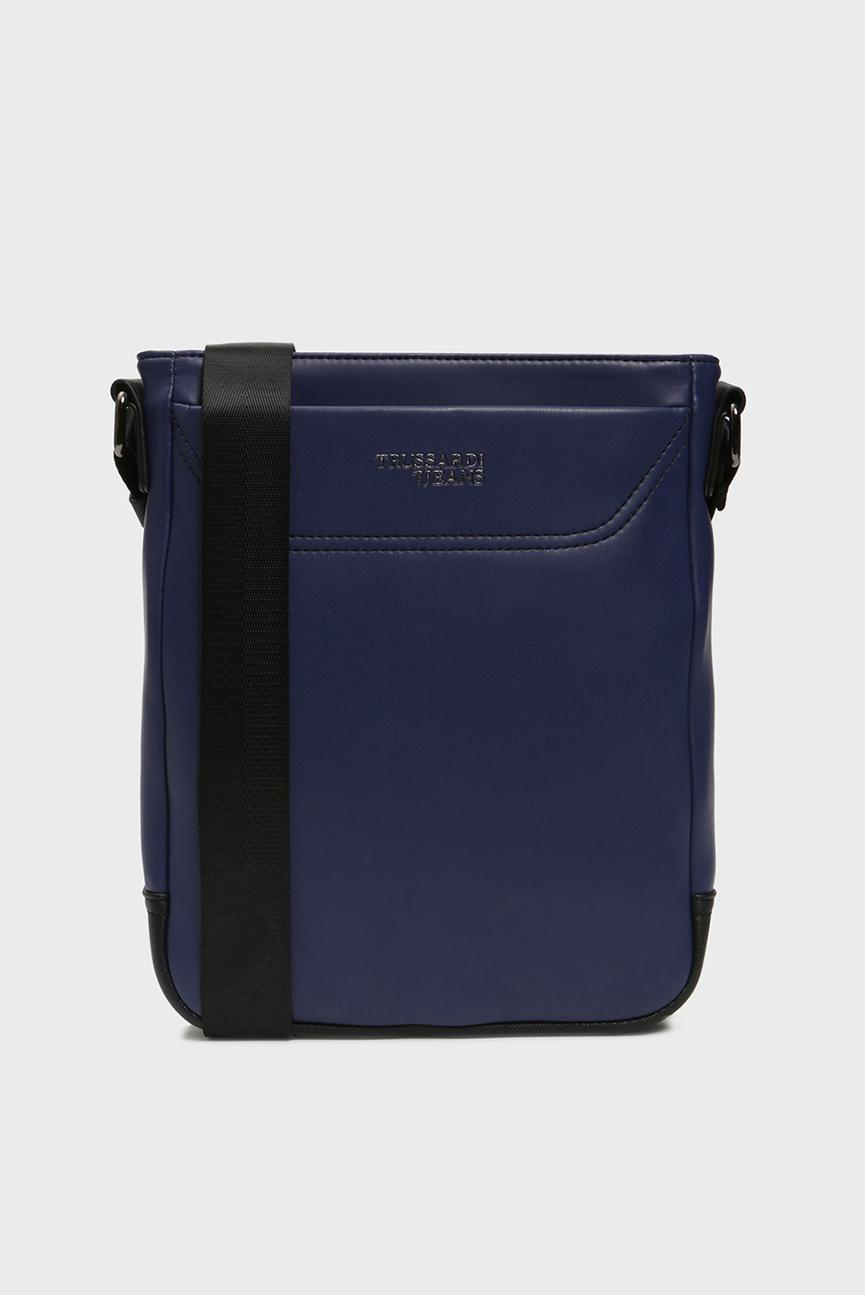 Мужская темно-синяя сумка через плечо BUSINESS CITY REPORTER