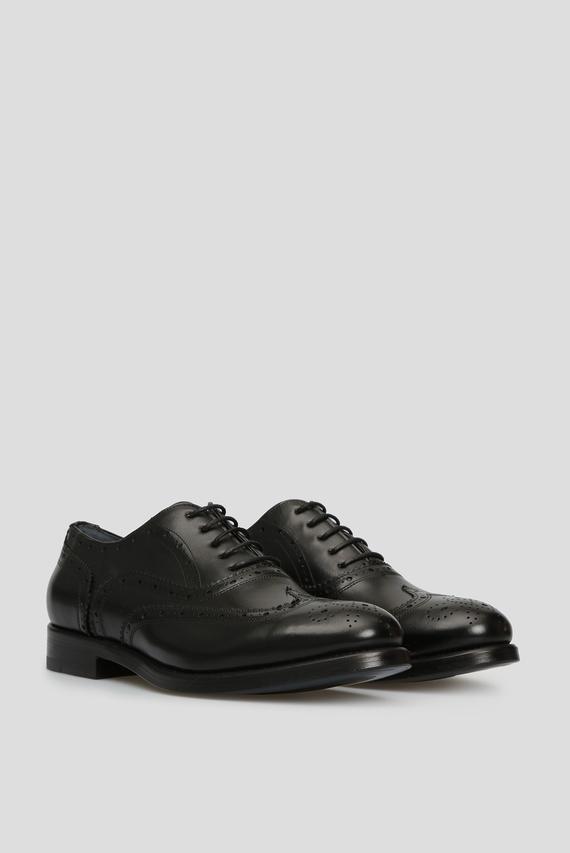 Мужские черные кожаные броги