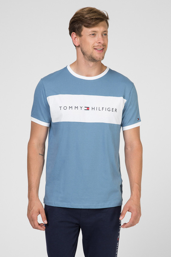 Мужская голубая футболка CN SS TEE LOGO FLAG