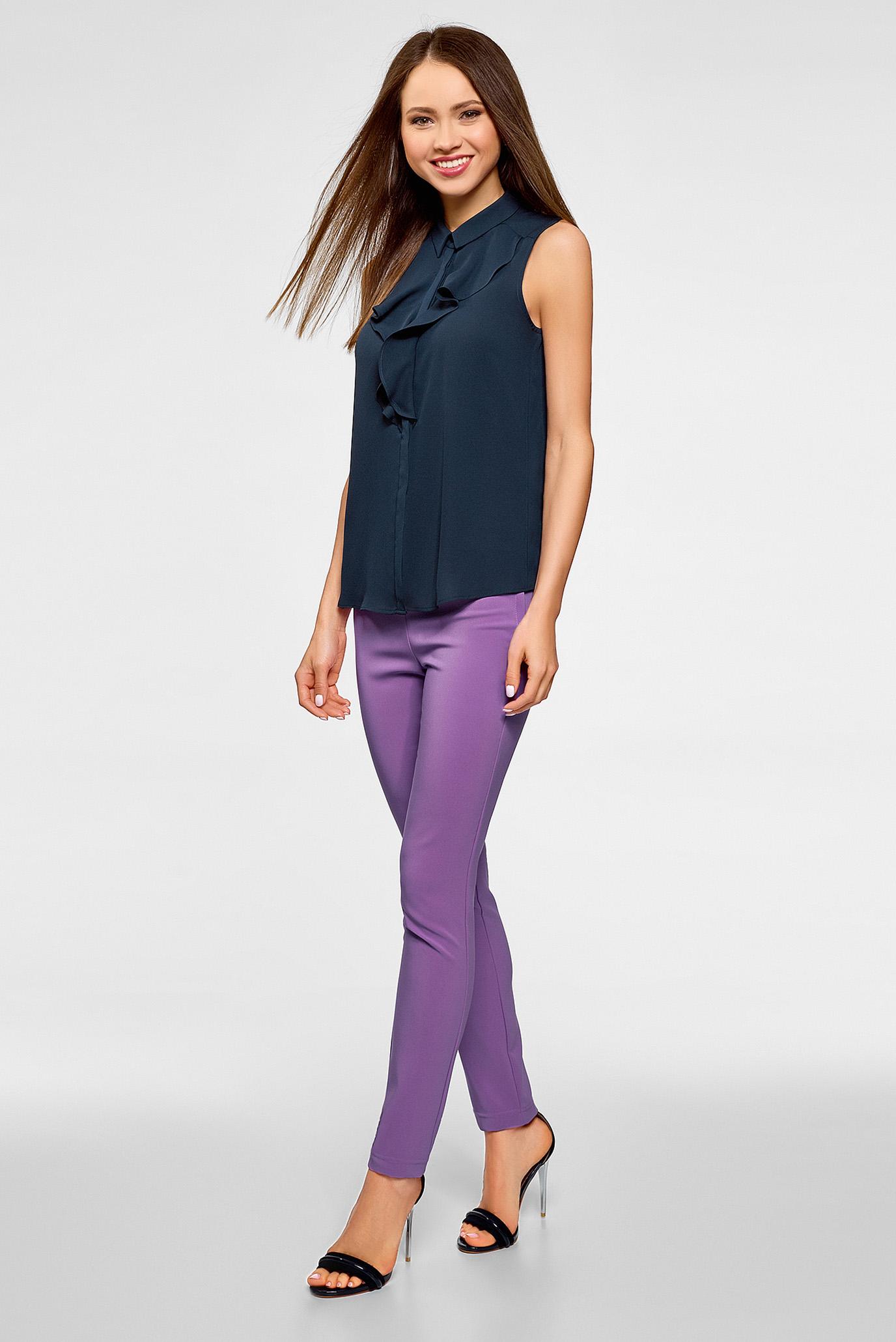 Купить Женская темно-синяя блуза Oodji Oodji 24911001B/36215/7900N – Киев, Украина. Цены в интернет магазине MD Fashion