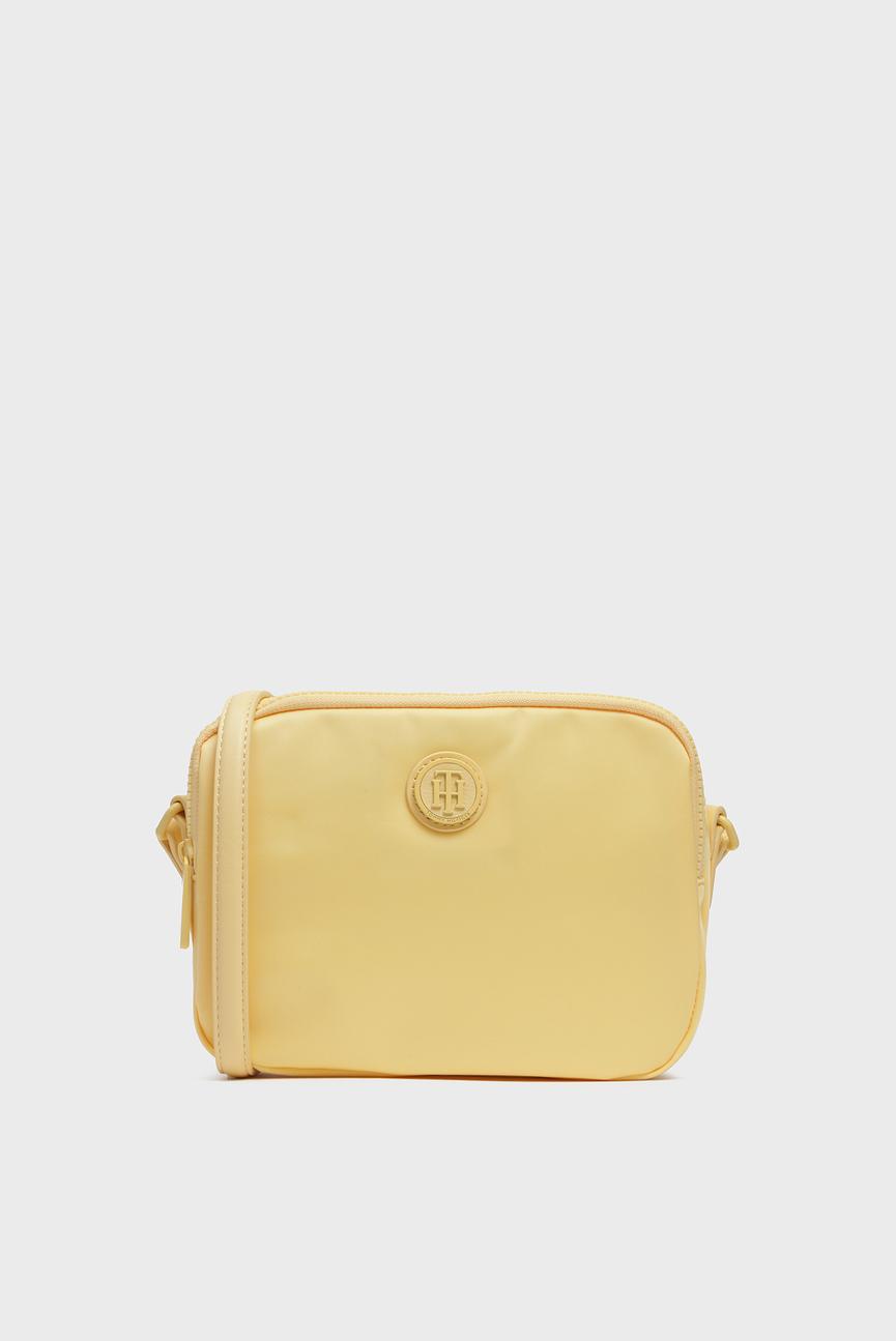 Женская желтая сумка через плечо POPPY