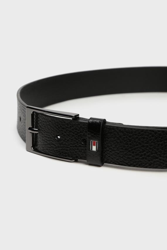 Мужской черный кожаный ремень LAYTON PEBBLE 3.5