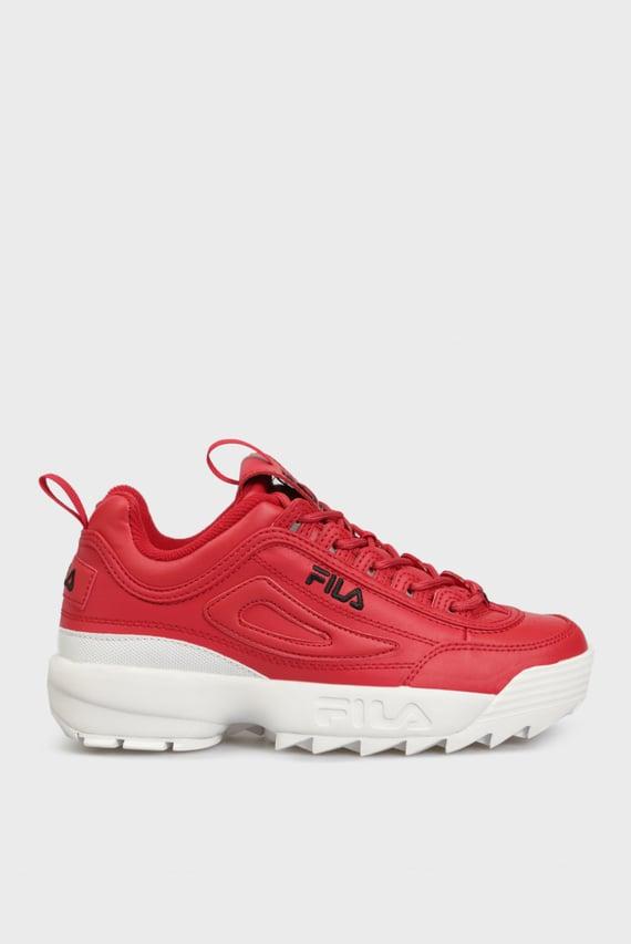 Женские красные кожаные кроссовки DISRUPTOR II