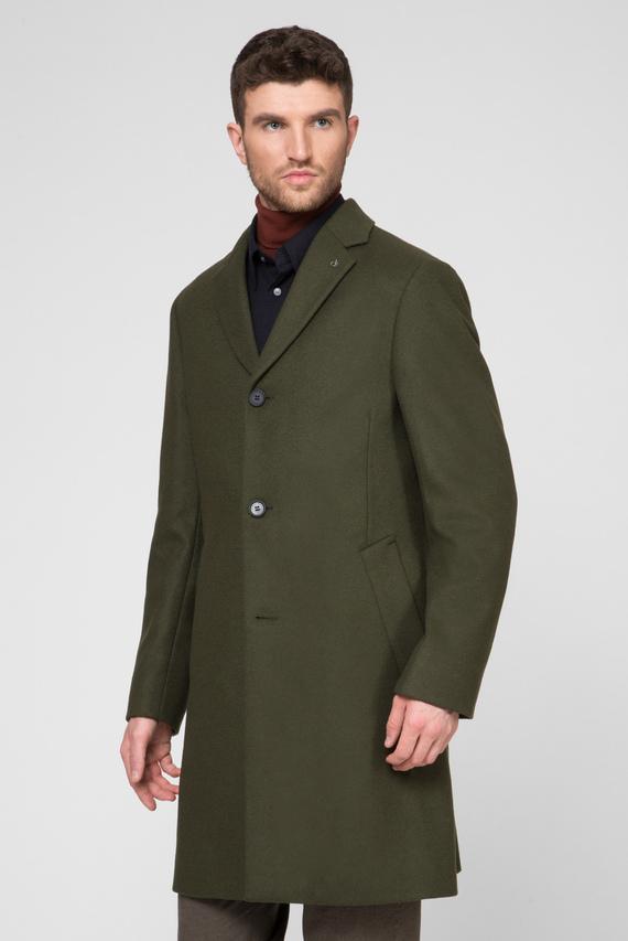 Мужское зеленое шерстяное пальто CASHMERE WOOL CROMBIE
