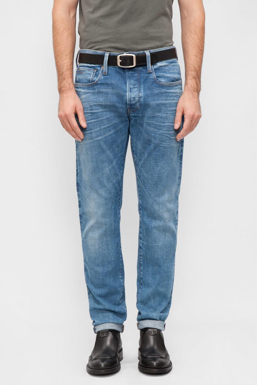 Мужские синие джинсы Slim