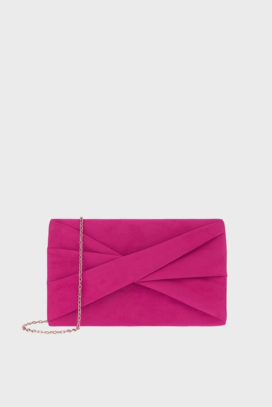 Женский розовый клатч VICTORIA TWIST BOW