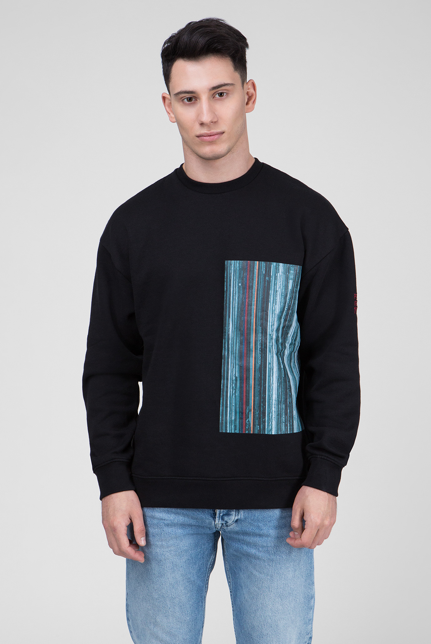 Купить Мужской черный свитшот с принтом KINGSMILL Pepe Jeans Pepe Jeans PM581502 – Киев, Украина. Цены в интернет магазине MD Fashion
