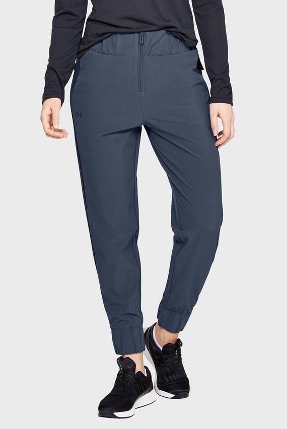 Женские серые спортивные брюки UNSTOPPABLE WOVEN HIGH WAIST STORM