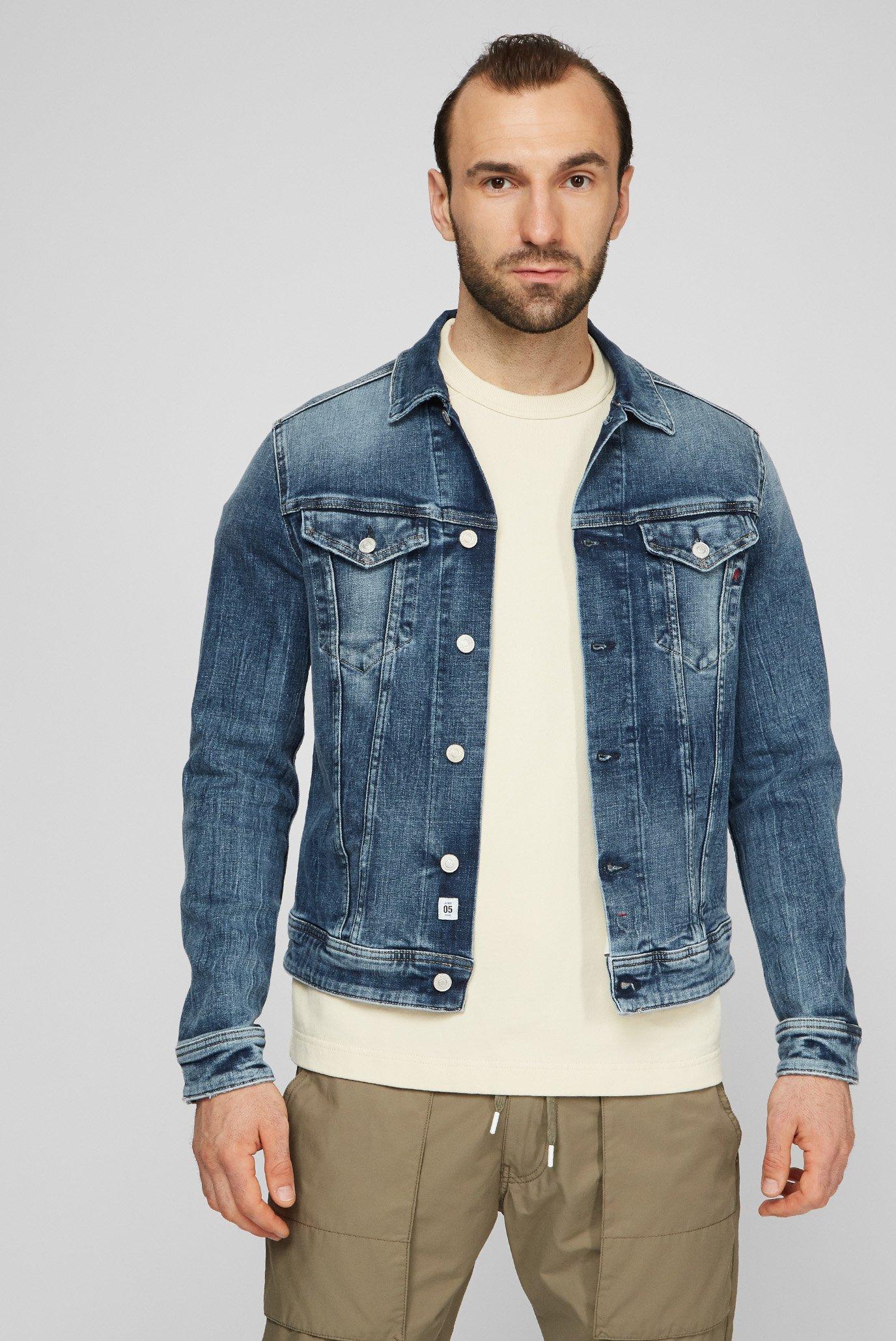 Мужская синяя джинсовая куртка 1