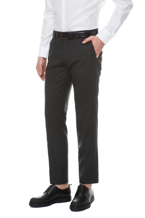 Мужские темно-зеленые шерстяные брюки